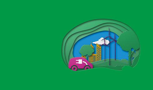 grüner Hintergrund mit Symbolen